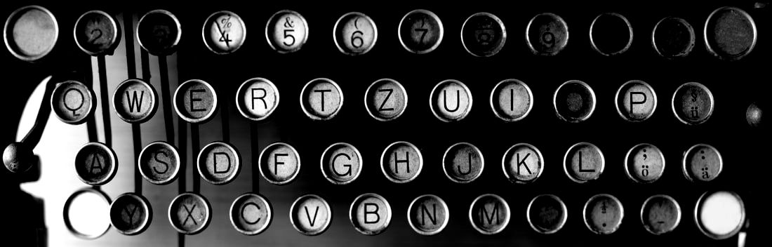 antique manual typewriter keyboard